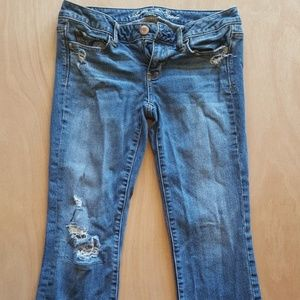 American Eagle Vintage Flare Distressed Jeans 4